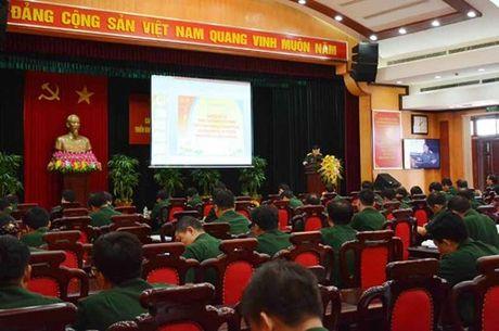 Dang uy Co quan Tong cuc Chinh tri hoc tap Nghi quyet Hoi nghi Trung uong 5 - Anh 1