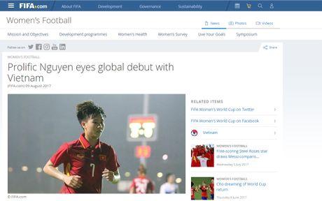 'Ronaldo cua DT nu Viet Nam' duoc FIFA ca ngoi - Anh 1