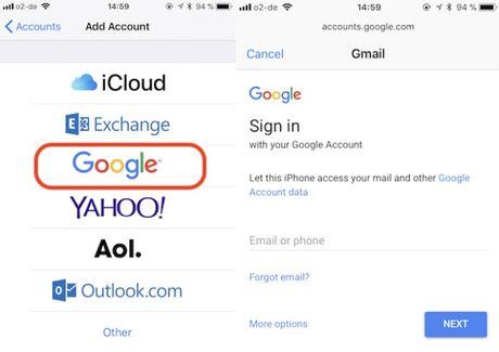 Cach chuyen danh ba tu dien thoai Android sang iPhone - Anh 3