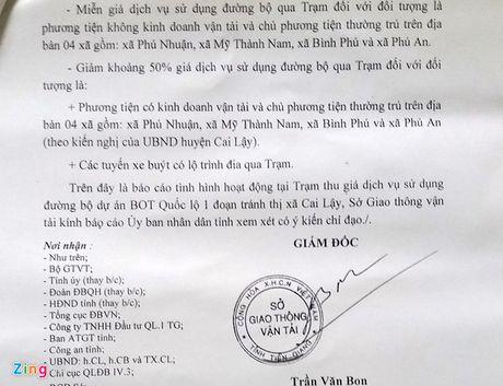 Tien Giang de nghi giam phi qua tram Cai Lay - Anh 3