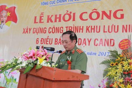 Khoi cong xay dung Khu luu niem 6 dieu Bac Ho day CAND - Anh 1
