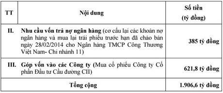 DHDCD bat thuong CII: Thuan theo co dong, gia phat hanh ha xuong 10.000 dong/cp - Anh 3