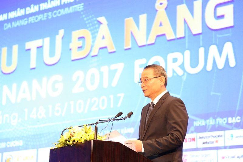 Bí thư Thành ủy Đà Nẵng Trương Quang Nghĩa phát biểu mở đầu Diễn đàn
