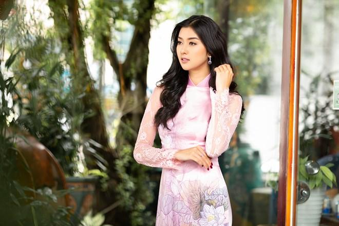 Hoa hậu Quốc tế 2017 đẹp hút hồn trong tà áo dài Việt Nam Ảnh 4