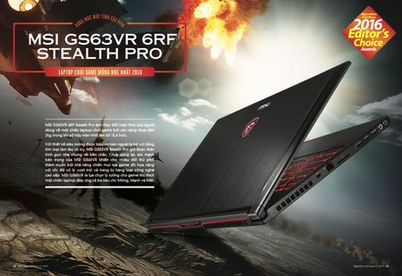 MSI Stealth Pro - laptop choi game mong nhat 2016 - Anh 1