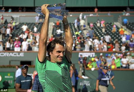 Roger Federer dang quang tai Indian Wells sau tran 'noi chien' - Anh 1