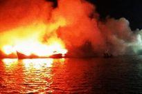 Ngư dân mất 32 tỷ đồng khi tàu cá bốc cháy lúc rạng sáng
