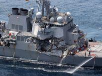 Chiến hạm Mỹ bị đâm va không phản ứng với cảnh báo từ tàu Philippines
