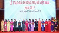18 tập thể, cá nhân nhận Giải thưởng Phụ nữ Việt Nam 2017