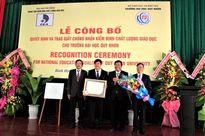 Đại học Quy Nhơn nhận Giấy chứng nhận Kiểm định chất lượng giáo dục