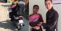 Bị bắt xe ngày 20/10, anh chồng nhờ luôn công an chở đi tặng hoa cho vợ