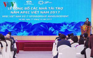 Công bố các nhà tài trợ năm APEC 2017