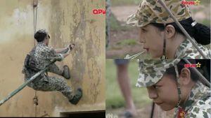 Quyết tâm làm 'đôi bạn cùng tiến', Hương Giang và Mai Ngô xuất sắc hoàn thành thử thách leo tường bằng sào