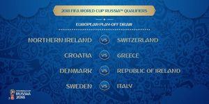 Italia tranh vé play-off World Cup 2018 với Thụy Điển, Croatia gặp Hy Lạp