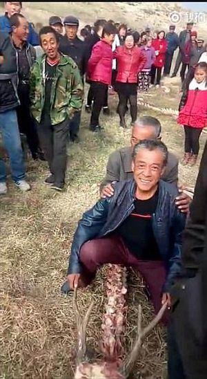 Hơn 10 triệu lượt xem video phát hiện 'bộ xương rồng' dài 18m ở Trung Quốc