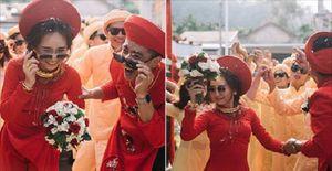 Xuất hiện trong đám cưới, cặp đôi xứ Huế và dàn bê lễ khiến khách mời choáng váng vì 'ngầu' và 'lầy lội'
