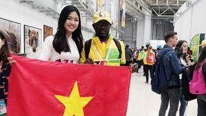 Từ Nga, Á hậu Thanh Tú gửi món quà đặc biệt cổ vũ Đỗ Mỹ Linh đi thi Miss World