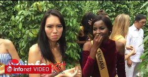 Dàn thí sinh Miss Grand International 'mặt nhăn mày nhó' khi được nếm thử hạt tiêu tươi