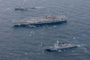 Tàu sân bay Mỹ tuần tra gần bán đảo Triều Tiên
