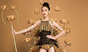 Hà Thu mang cả 'vườn sen' đến Miss Earth 2017