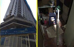 Hai thanh sắt rơi từ tầng 27 công trình The Golden Palm, xuyên thủng nhà dân trong đêm