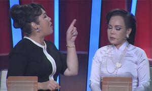 Hồng Vân mắng Việt Hương: 'Mày là con hai mặt' ngay trên sóng truyền hình