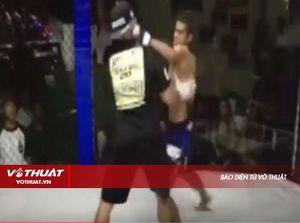 Võ sĩ MMA mất phương hướng tấn công nhầm trọng tài