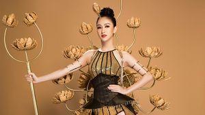 Hà Thu bất ngờ hóa 'chiến binh hoa', sẵn sàng cho phần thi Trang phục dân tộc tại Miss Earth 2017
