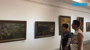 Tìm hương xưa Bắc từ triển lãm tranh sơn mài giữa Sài Gòn