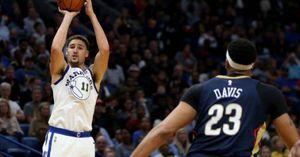 Sniper Klay Thompson tỏa sáng, Warriors ngược dòng hạ đẹp Pelicans