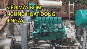 Siêu máy bơm trên đường Nguyễn Hữu Cảnh ngừng hoạt động