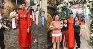 Xôn xao hình ảnh Ngô Thanh Vân mặc áo dài làm lễ rước dâu?