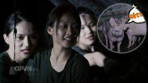 Bị phạt dọn vệ sinh, Hương Giang - Khả Ngân vẫn hồn nhiên chuyện trò cùng 'bạn heo'