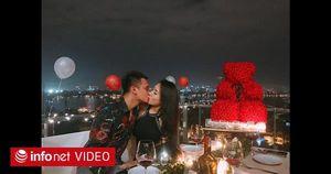 Bạn gái xinh đẹp bất ngờ trước màn cầu hôn lãng mạn như ngôn tình của Khắc Việt