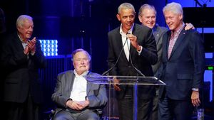 5 cựu tổng thống Mỹ hội tụ vì nạn nhân bão