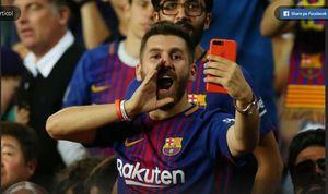 Messi phiên bản nhái đến sân Camp Nou cổ vũ thần tượng