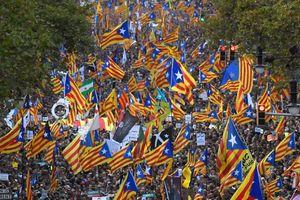 Gần nửa triệu người biểu tình phản đối đình chỉ chính quyền Catalonia