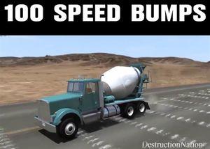 Sẽ ra sao khi lái ô tô với vận tốc 160km/h lao qua 100 gờ giảm tốc?