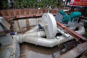 Siêu máy bơm đường Nguyễn Hữu Cảnh ngưng hoạt động