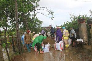 Thanh Hóa vỡ đê, 100 hộ dân chìm trong nước