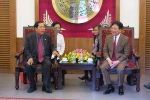 Thứ trưởng Vương Duy Biên tiếp đoàn Quốc Vụ khanh Bộ Văn hóa và Nghệ thuật Campuchia