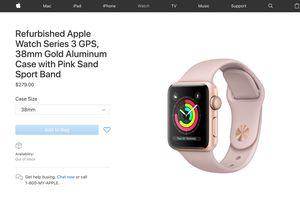 Apple bổ sung Apple Watch Series 3 vào cửa hàng thiết bị tân trang