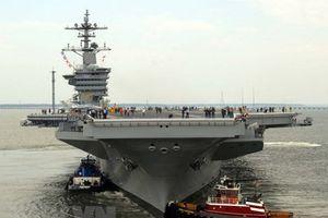 Tàu sân bay Mỹ diễn tập cùng chiến hạm Nhật Bản trên Biển Đông