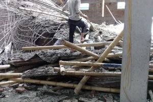 Tin mới vụ sập giàn giáo công trình ở Nam Định