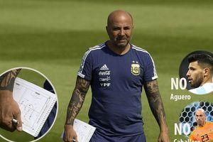 Argentina thay nửa đội hình, 'cắt' Aguero và thủ môn Caballero