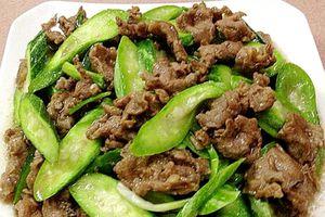 Bí quyết làm thịt bò xào lặc lày thơm ngon bổ dưỡng cho bữa trưa đầu tuần ngon miệng