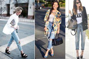 4 cách kết hợp quần jeans với giày chuẩn thời thượng cho chị em