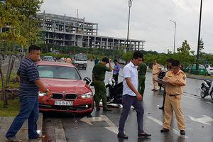 Cảnh sát khám nghiệm hiện trường vụ ôtô BMW tông chết cô gái