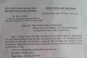 Bí thư Huyện ủy Quảng Xương biết sai, nhưng không biết sửa?