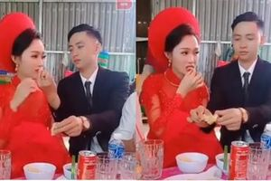 Cô dâu hot nhất mạng xã hội hôm nay: Được chồng đút cho ăn vì sợ tay bẩn